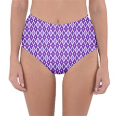 Jess Violet Reversible High Waist Bikini Bottoms