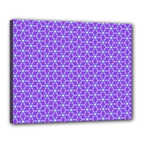 Lavender Tiles Canvas 20  X 16  by jumpercat
