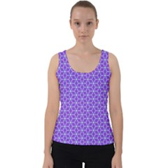 Lavender Tiles Velvet Tank Top