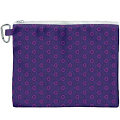 Dark Tech Fruit Pattern Canvas Cosmetic Bag (xxxl)