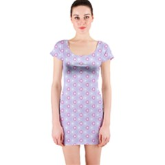 Light Tech Fruit Pattern Short Sleeve Bodycon Dress