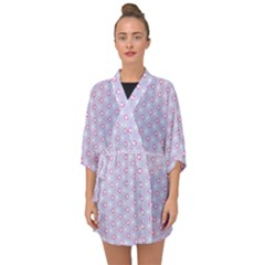 Light Tech Fruit Pattern Half Sleeve Chiffon Kimono by jumpercat