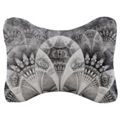 Black And White Fanned Feathers In Halftone Dots Velour Seat Head Rest Cushion