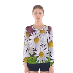 Flowers Flower Background Design Women s Long Sleeve Tee