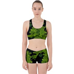 Decoration Green Black Background Work It Out Gym Set by Sapixe