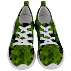 Decoration Green Black Background Women s Lightweight Sports Shoes
