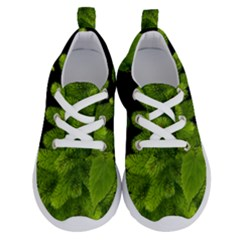 Decoration Green Black Background Running Shoes