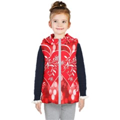 Love Romantic Greeting Celebration Kid s Hooded Puffer Vest