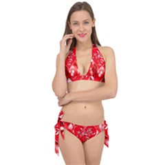 Love Romantic Greeting Celebration Tie It Up Bikini Set