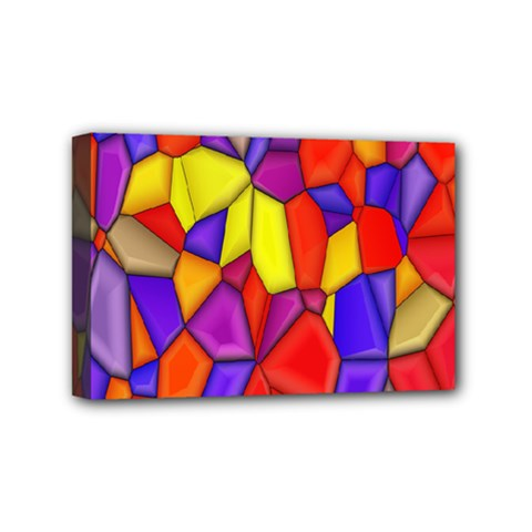 Mosaic Tiles Pattern Texture Mini Canvas 6  X 4