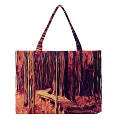 Forest Autumn Trees Trail Road Medium Tote Bag