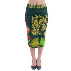 Background Reason Tulips Colors Midi Pencil Skirt