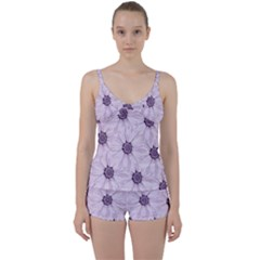 Background Desktop Flowers Lilac Tie Front Two Piece Tankini