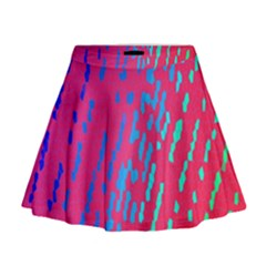 Background Desktop Mosaic Raspberry Mini Flare Skirt by Sapixe