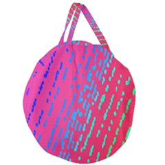 Background Desktop Mosaic Raspberry Giant Round Zipper Tote by Sapixe