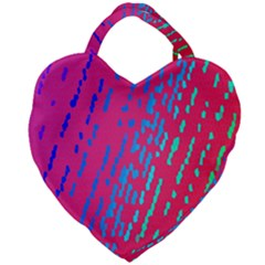 Background Desktop Mosaic Raspberry Giant Heart Shaped Tote