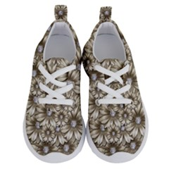 Background Flowers Running Shoes by Sapixe