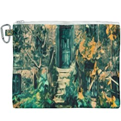 Porch Door Stairs House Canvas Cosmetic Bag (xxxl)