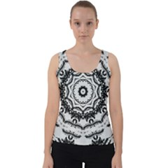 Abstract Pattern Fractal Velvet Tank Top by Sapixe