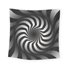 Art Optical Black White Hypnotic Square Tapestry (small)