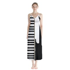 Ghost Gear   Music Lover   Button Up Chiffon Maxi Dress by GhostGear