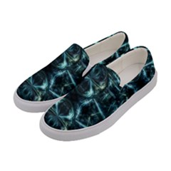 Abstract Fractal Magical Women s Canvas Slip Ons by Sapixe