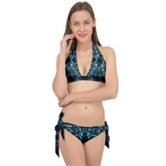 Abstract Fractal Magical Tie It Up Bikini Set