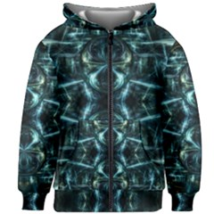 Abstract Fractal Magical Kids Zipper Hoodie Without Drawstring