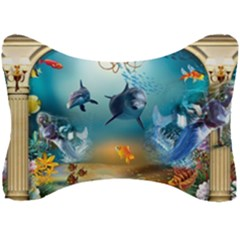 Dolphin Art Creation Natural Water Seat Head Rest Cushion by Sapixe