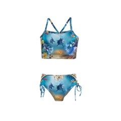 Dolphin Art Creation Natural Water Girls  Tankini Swimsuit