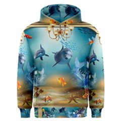 Dolphin Art Creation Natural Water Men s Overhead Hoodie