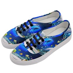 Dolphin Art Creation Natural Water Women s Classic Low Top Sneakers by Sapixe