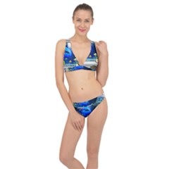 Dolphin Art Creation Natural Water Classic Banded Bikini Set  by Sapixe
