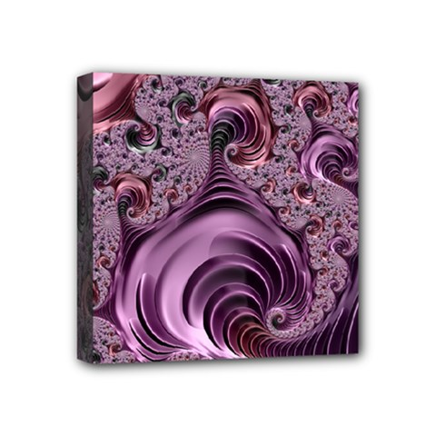 Purple Abstract Art Fractal Mini Canvas 4  X 4  by Sapixe