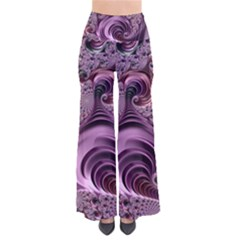 Purple Abstract Art Fractal So Vintage Palazzo Pants