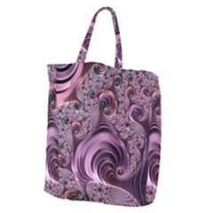 Purple Abstract Art Fractal Giant Grocery Zipper Tote