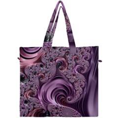 Purple Abstract Art Fractal Canvas Travel Bag by Sapixe