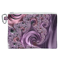 Purple Abstract Art Fractal Canvas Cosmetic Bag (xl) by Sapixe