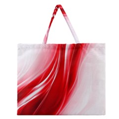 Flame Red Fractal Energy Fiery Zipper Large Tote Bag by Sapixe