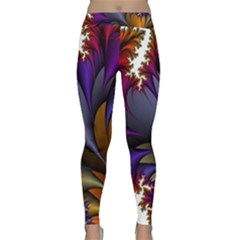 Flora Entwine Fractals Flowers Classic Yoga Leggings by Sapixe