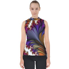 Flora Entwine Fractals Flowers Shell Top