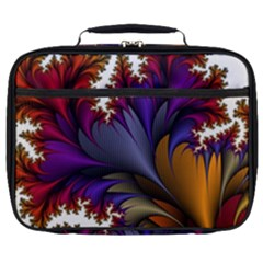 Flora Entwine Fractals Flowers Full Print Lunch Bag