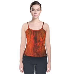 Fractal Abstract Background Physics Velvet Spaghetti Strap Top