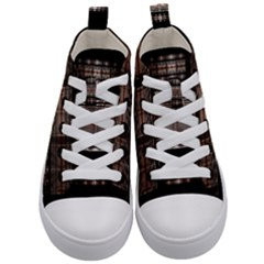 Fractal Art Design Geometry Kid s Mid Top Canvas Sneakers