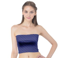 Blue Fractal Art Honeycomb Mathematics Tube Top