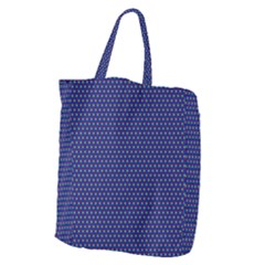 Blue Fractal Art Honeycomb Mathematics Giant Grocery Zipper Tote by Sapixe