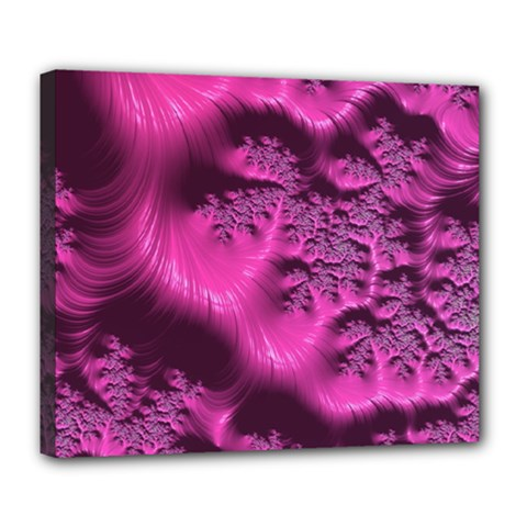 Fractal Artwork Pink Purple Elegant Deluxe Canvas 24  X 20   by Sapixe