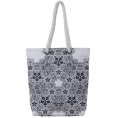 Fractal Background Foreground Full Print Rope Handle Tote (small)