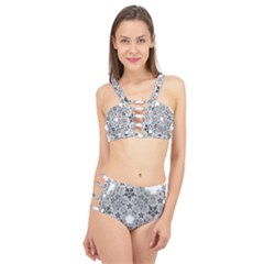 Fractal Background Foreground Cage Up Bikini Set