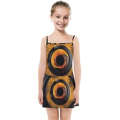Fractal Mathematics Abstract Kids Summer Sun Dress by Sapixe